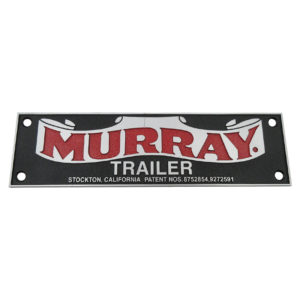Murray Name Plate | with Patent Numbers