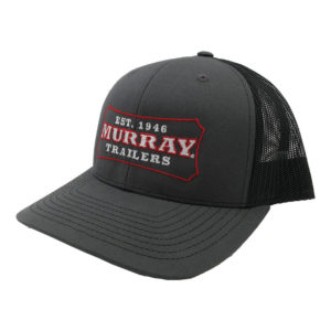 Embroidered Trucker Hat | Charcoal