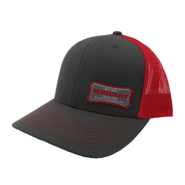 Embroidered Trucker Hat | Red/Charcoal