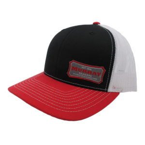 Embroidered Trucker Hat | Red/Black/White