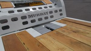 Murray Trailers | Wedge Ramp Storage Front of Deck