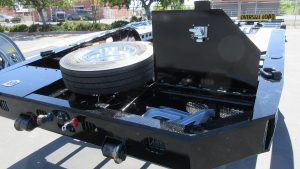 Murray Trailers | Pro Tapered Corner Neck with Toolboxes & Spare Tire